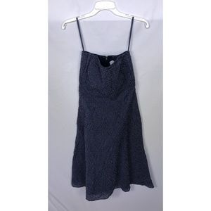 J. Crew Navy Blue Polka Dot Strapless Dress Size 4